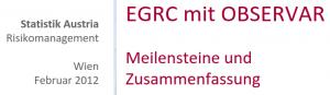 EGRC Umsetzung in der Bundesanstalt Statistik Austria